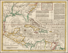 South, Southeast, Caribbean and Central America Map By Gentleman's Magazine