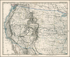 Plains, Southwest and Rocky Mountains Map By Adolf Stieler