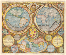 World Map By Giuseppe Rosaccio