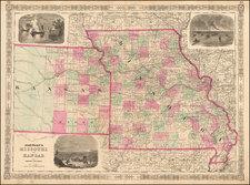 Midwest and Plains Map By Benjamin P Ward  &  Alvin Jewett Johnson