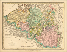 Netherlands and Luxembourg Map By Robert Wilkinson