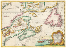 New England, Canada and Eastern Canada Map By Gentleman's Magazine