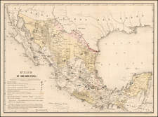 New Mexico Map By Antonio Garcia y Cubas
