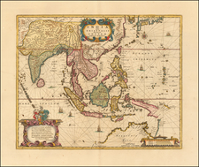 Southeast Asia Map By Peter Schenk  &  Gerard Valk