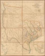 Texas Map By John Arrowsmith