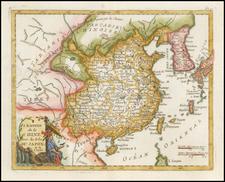 China, Japan and Korea Map By Joseph De La Porte