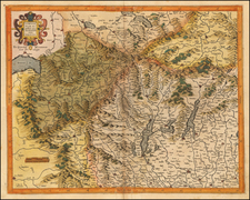 Switzerland and Italy Map By Gerhard Mercator