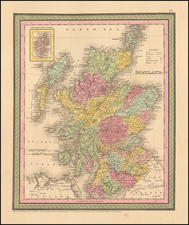 British Isles Map By Thomas, Cowperthwait & Co.
