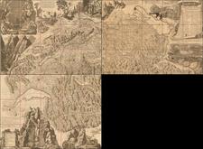 Switzerland Map By Jean Baptiste Poirson