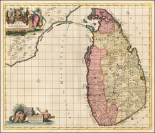 India and Other Islands Map By Reiner & Joshua Ottens