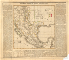 Texas, Southwest, Rocky Mountains and California Map By Carl Ferdinand Weiland