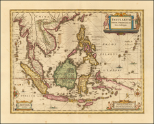 Southeast Asia, Philippines, Indonesia and Malaysia Map By Peter Schenk  &  Gerard Valk