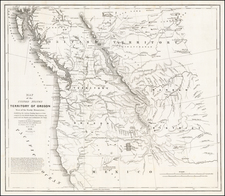 Pacific Northwest, Oregon and Washington Map By Washington Hood