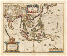 Southeast Asia Map By Henricus Hondius