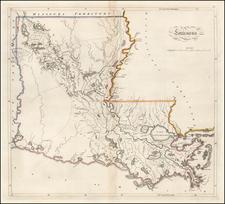 Louisiana Map By Matthew Carey