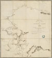 Alaska Map By Lavrentii Alekseevich zagoskin