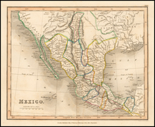 South, Texas, Southwest and Mexico Map By S.I. Neele