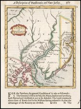 Mid-Atlantic, New Jersey and Pennsylvania Map By Robert Morden