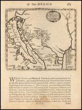 Texas, Southwest, California and California as an Island Map By Robert Morden
