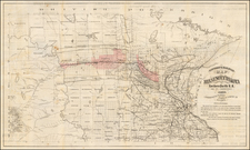 Minnesota, North Dakota and South Dakota Map By Pioneer Press Co