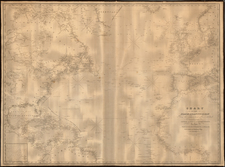 Atlantic Ocean Map By E & GW Blunt