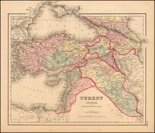 Europe, Russia, Asia, Central Asia & Caucasus, Turkey & Asia Minor and Russia in Asia Map By Joseph Hutchins Colton