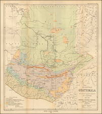 Central America Map By Augustus Herman Petermann