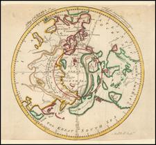 Northern Hemisphere and Polar Maps Map By Gentleman's Magazine