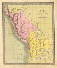 Paraguay & Bolivia and Peru & Ecuador Map By David Hugh Burr