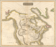 North America Map By John Thomson