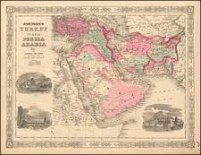 Johnson's Turkey in Asia, Persia, Arabia, &c. By Benjamin P Ward  &  Alvin Jewett Johnson