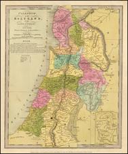 Holy Land Map By David Hugh Burr