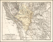 Arizona and California Map By Augustus Herman Petermann