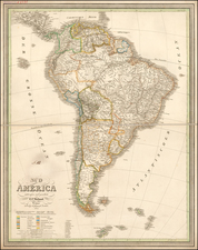 South America Map By Carl Ferdinand Weiland