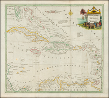 Florida and Caribbean Map By Thomas Conder