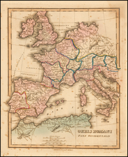 Europe and Mediterranean Map By Fielding Lucas Jr.