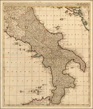 Southern Italy Map By Gerard & Leonard Valk