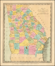 Georgia Map By David Hugh Burr