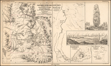 Idaho and Wyoming Map By F.V. Hayden / Augustus Herman Petermann