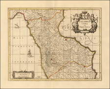 Southern Italy Map By Peter Schenk  &  Gerard Valk