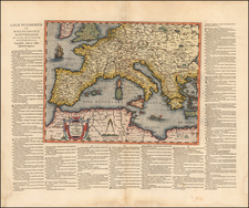 World and Mediterranean Map By Abraham Ortelius