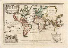 World Map By Nicolas de Fer