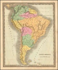 South America Map By David Hugh Burr