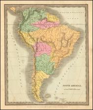 South America Map By David Hugh Burr