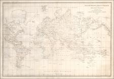 World Map By Ivan Fedorovich Krusenstern