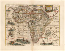 Africa Map By Henricus Hondius