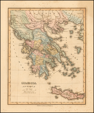 Greece Map By Fielding Lucas Jr.