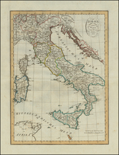 Italy Map By Weimar Geographische Institut