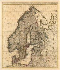 Baltic Countries, Scandinavia and Finland Map By Gerard & Leonard Valk