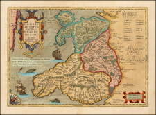 Wales Map By  Gerard Mercator